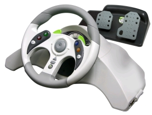 Xbox and Steering Wheel